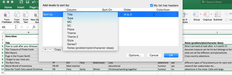 sort function